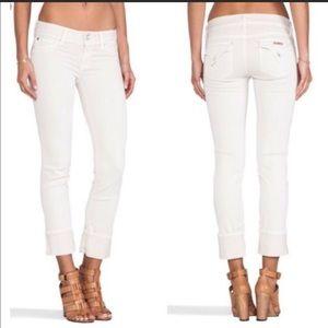 Hudson White 'Ginny Crop' Jeans sz 30